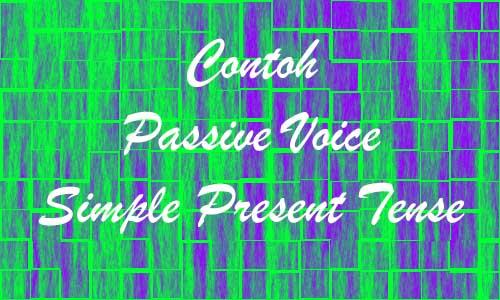Contoh Passive Voice Present Tense Disertai Materi Lengkap
