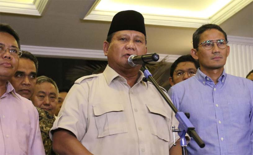 Prabowo pidato usai putusan MK