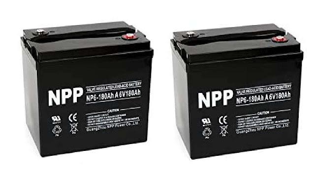 NPP 6V 180 Amp AGM Battery for Car Speakers