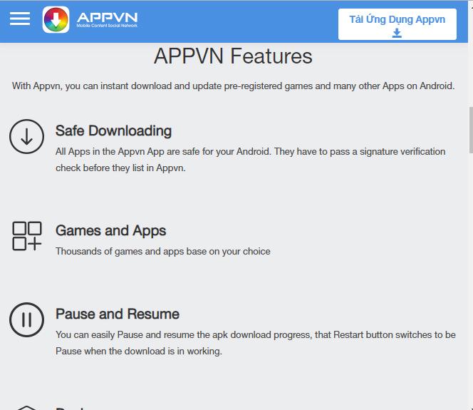 Tải Appvn - Thỏa sức khám phá kho ứng dụng Android, IOS miễn phí b