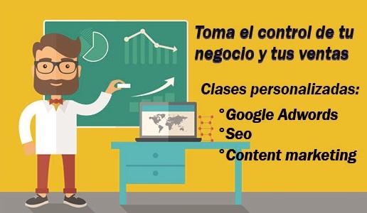 Clases personalizadas y presenciales de Google Adwords