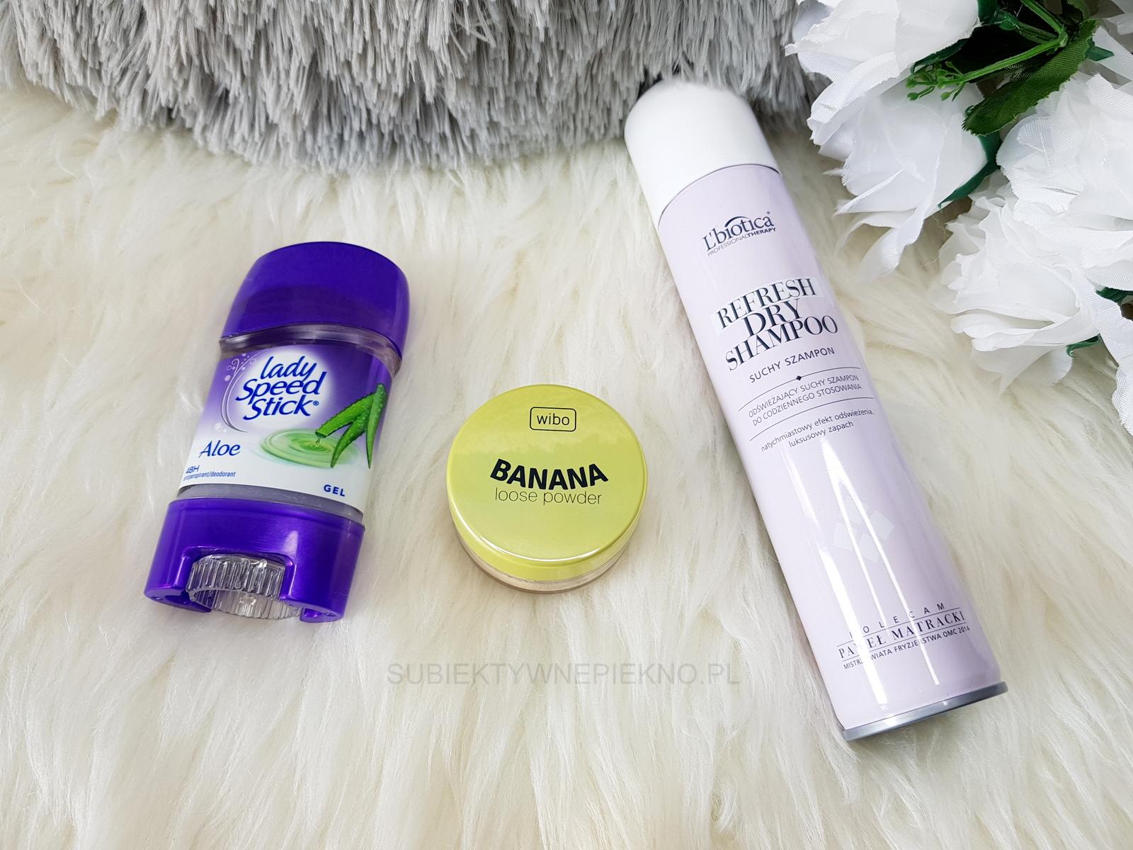 Nowości luty 2018 - Lady Speed Stick, puder bananowy Wibo, suchy szampon L'Biotica