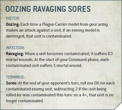 oozing ravagin sores