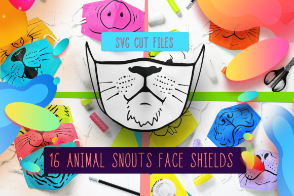 Animals Face Mask Designs Cut Files