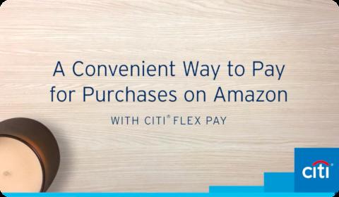 Citi Flex Pay sur Amazon