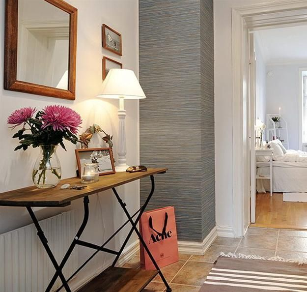 decoração de hall com espelho  e  aparador, hall de entrada , hall de entrada de casas ou apartamentos