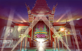 Chinese Theater Mickey and Minnie's Runaway Railway Entrance Concept Art Disney World