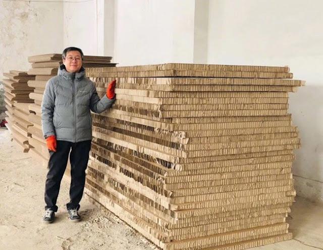 blindado feito de papelão