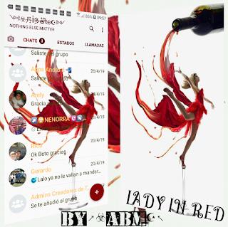 Lady In Red Theme For YOWhatsApp & Fouad WhatsApp By ABM
