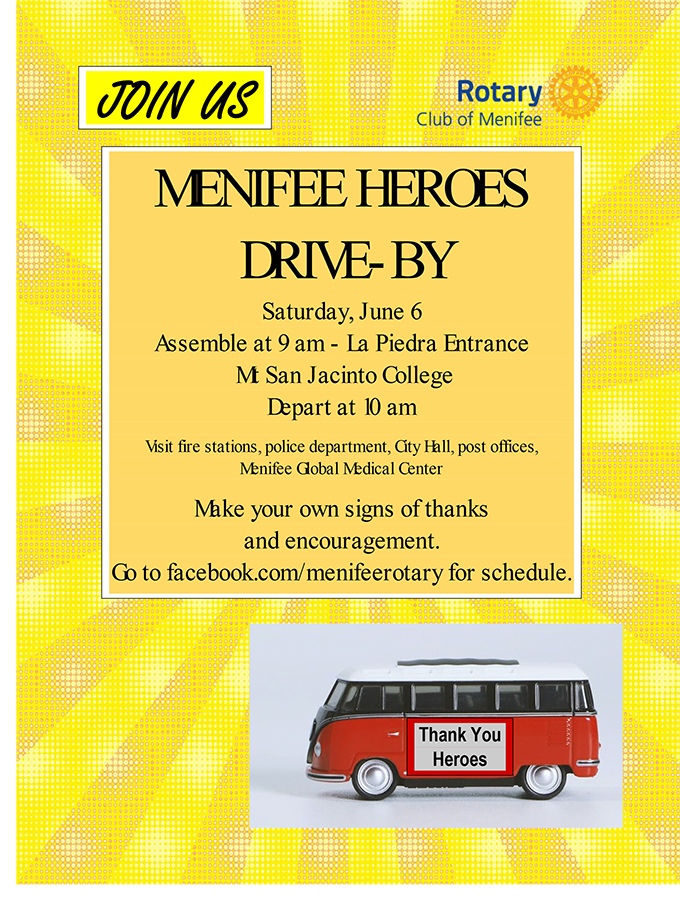 Residents To Join In Menifee Heroes Drive By On Saturday