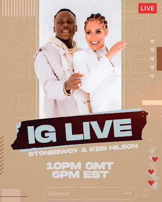 Stonebwoy Goes Live On Instagram With Keri Hilson On Instagram Tonight (Check Time & Join The Fun)