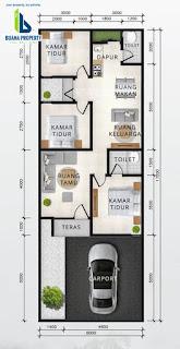 Floor Plan Tipe 75 Rumah Diskon 100 Juta Hanya Untuk 3 Unit Pertama Di Cluster Sayana