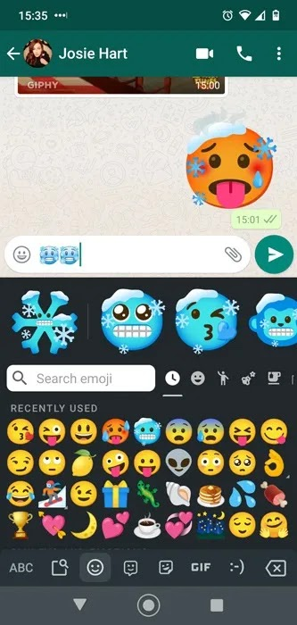 مجموعات الرموز التعبيرية Android Gboard Icycle