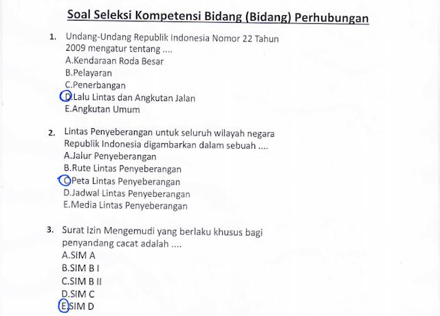 Materi Soal SKB Bidang Perhubungan CPNS 2020 (Seleksi Kompetensi Bidang)