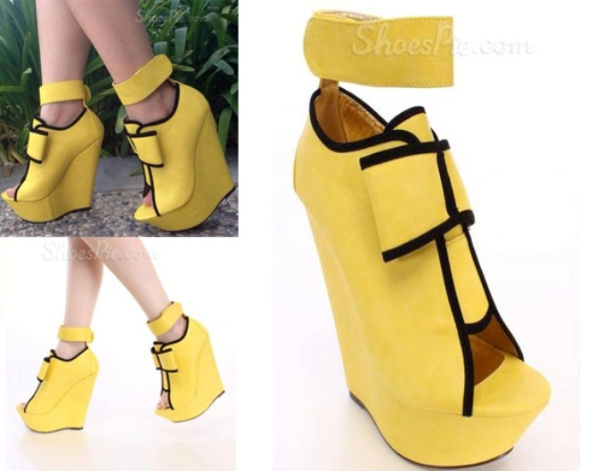 Fashion Contrast Color Wedge Sandals