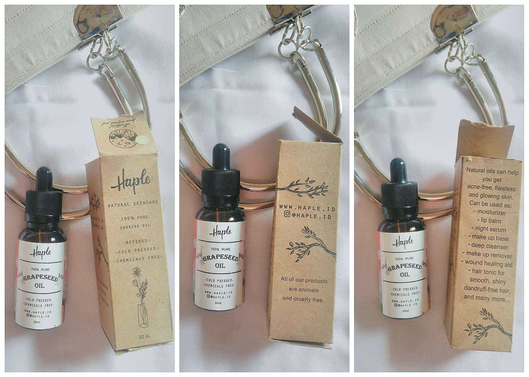 Review haple.id Grapeseed Oil Review Face Oil di Kulit Berminyak dan Berjerawat