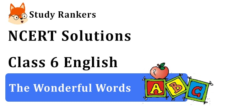 NCERT Solutions for Class 6 The Wonderful Words