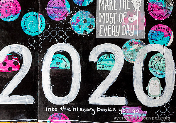 Layers of ink - 2020 art journal page tutorial by Anna-Karin Evaldsson.