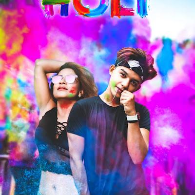 Holi photo editing picsart