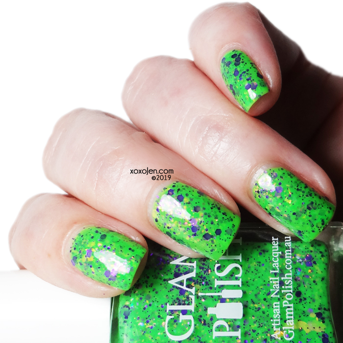 xoxoJen's swatch of Glam Polish How To Kill A Monster