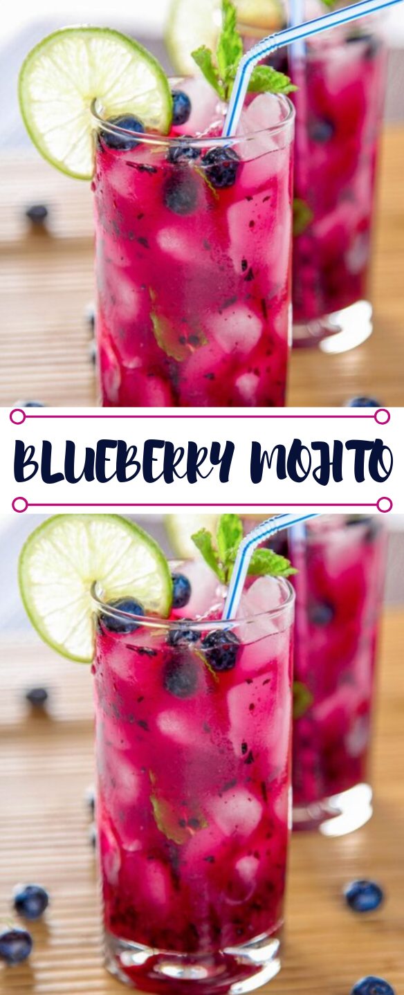 BLUEBERRY MOJITO #mojito #drink #fres #delicious #cocktail