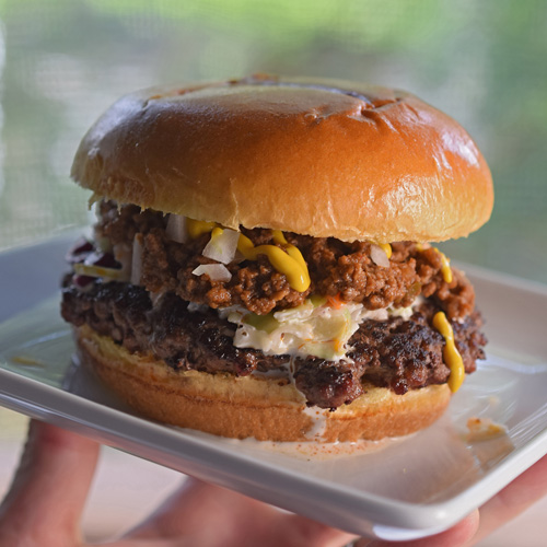 All The Way Burger ala Melvin's or Cookout Style Burger