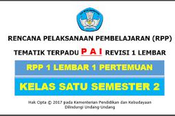 RPP 1 Lembar PAi Kelas 1 SD/MI Kurikulum 2013