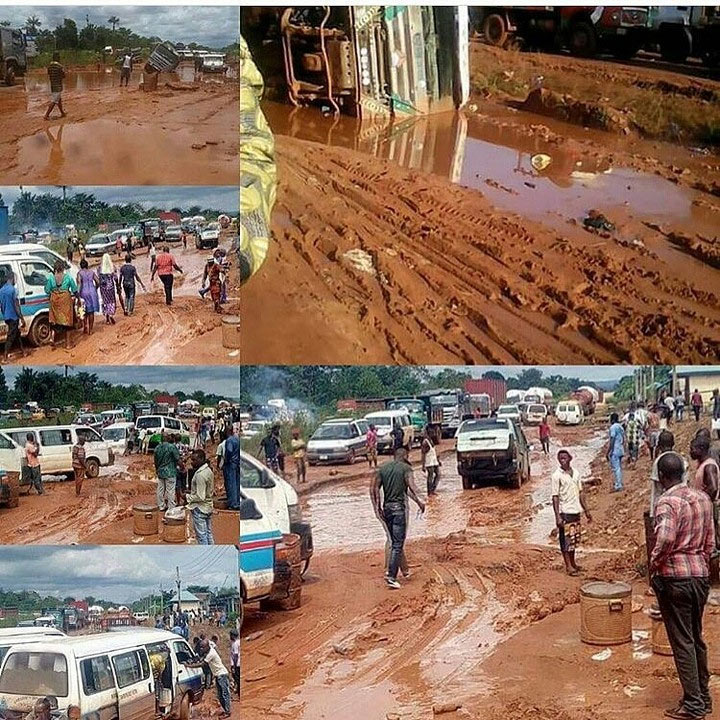 Choi! This portion of Onitsha-Enugu Expressway is a sight to behold