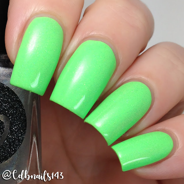 Bliss Polish-Down In Keylime Go with Holo Bliss Topper