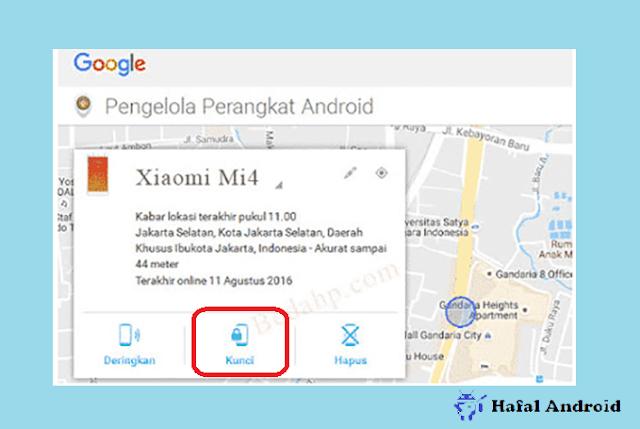 Membuka Pola HP Xiaomi dengan Android Device Manager