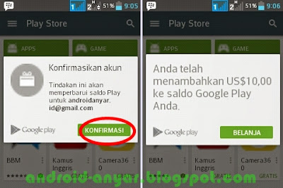 saldo play store gift card di Google Wallet Indonesia