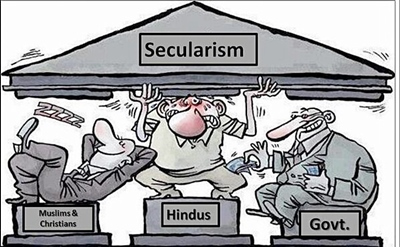 Secularism in India is just a joke   Why Secularism only applies to Hindu?