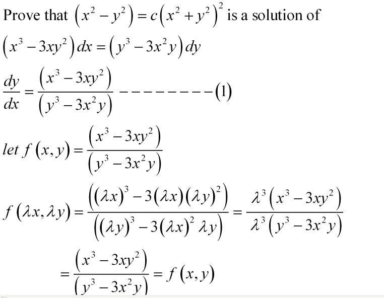mixture: solution of homogeneous differential equation