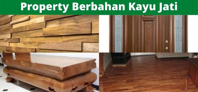 property bahan kayu jati