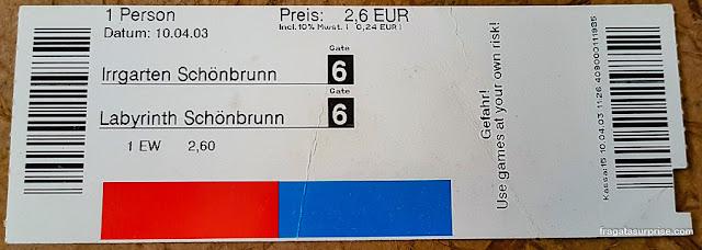Ingresso para o Palácio de Schönbrunn, Viena