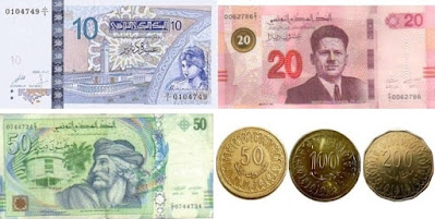 Countries and Currency Tunisian dinar