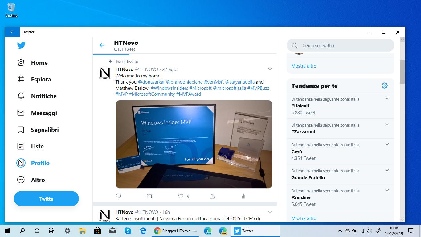 Aumenta contrasto colore su Twitter per migliorare la leggibilità