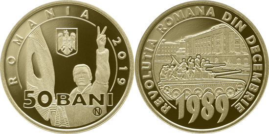 Romania 50 bani 2019 - Revolution of December 1989