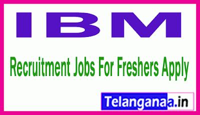 IBM Recruitment Jobs For Freshers Apply