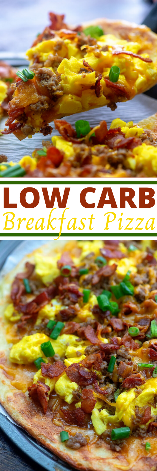 Meat Lovers Breakfast Pizza #keto #glutenfree #easy #lowcarb #pizza