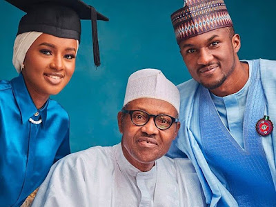 President Buhari Photoshoot With His Children After Hanan Graduated As A Photographer. PHOTOS
