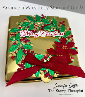 Stampin' Up!'s Arrange a Wreath bundle.  More info on blog.  #StampinUp #StampTherapist