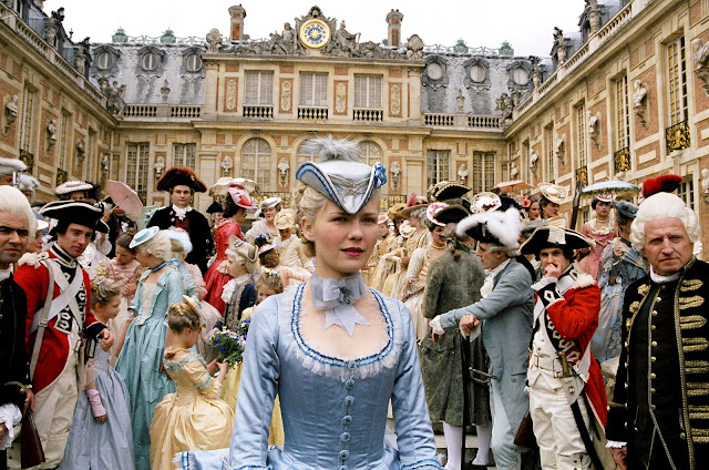 Marie Antoinette blue gown at Versailles