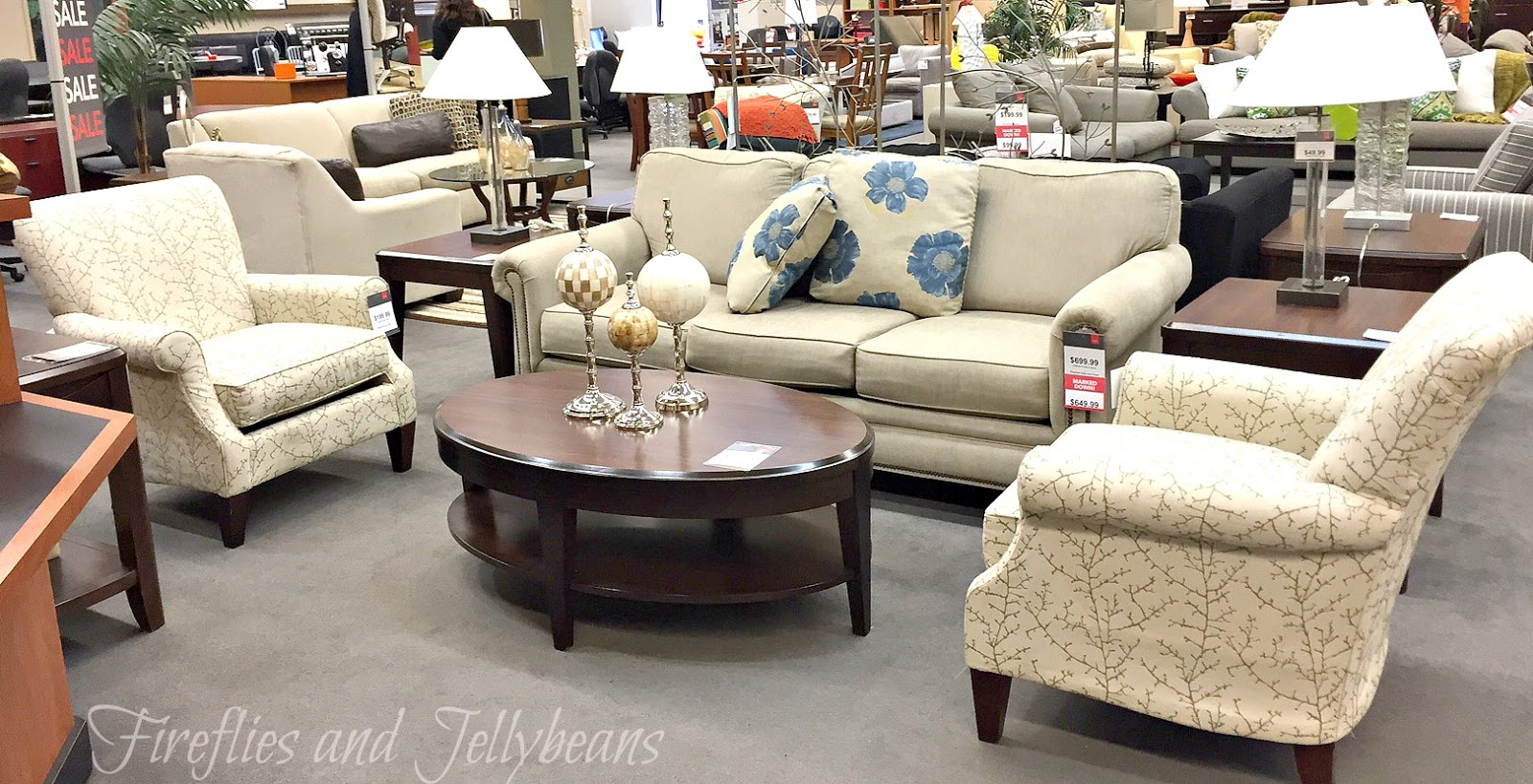 Fireflies and jellybeans for Cort furniture clearance