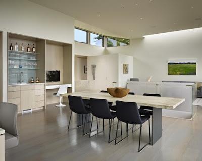 Model Gambar Desain Ruang Makan Minimalis Elegan