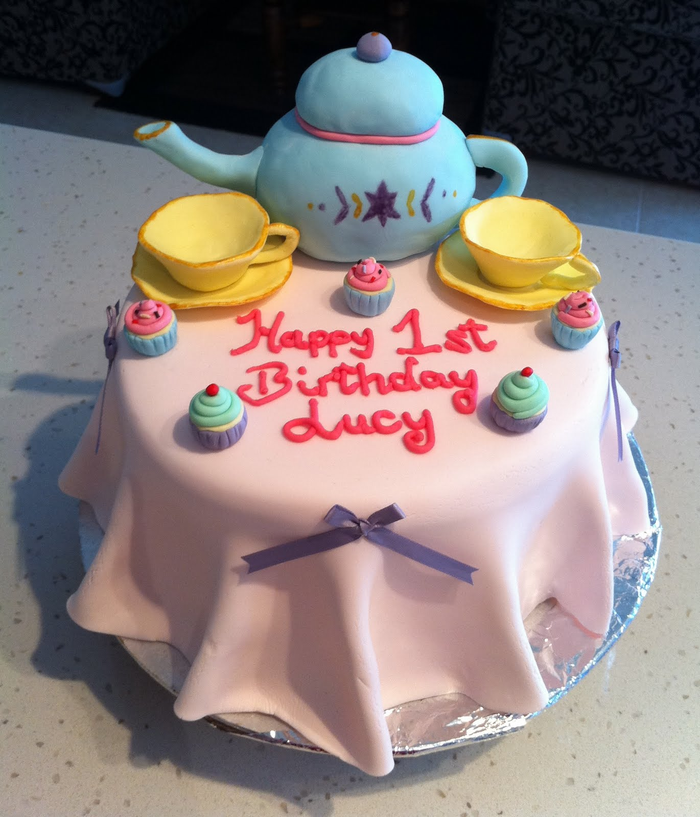 Covered Cakes: 1st Birthday Tea Party