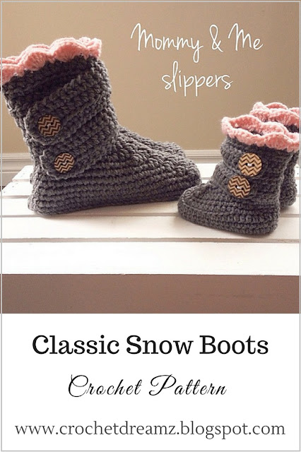 Woman's Boots Crochet Pattern