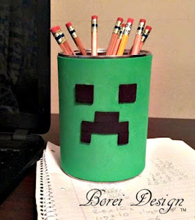 DIY craft tutorial how to make a diy minecraft fat creeper can.