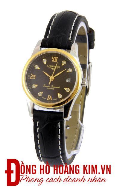 Đồng hồ đeo tay nữ Longines dây da giá rẻ dưới 1 triệu