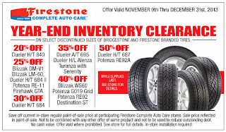 firestone tire coupons november 2013 december 2013